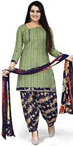 Rajnandini Women's Cotton Printed Unstitched Salwar Suit Material