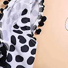 Yoveme Toddler Baby Girls Bikini Swimsuit Cute Polka Dot Bikini Set Swimwear Beachwear with Headband Black 2-6T