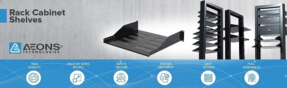 Universal Vented Server Rack Mount Shelf Cabinet amp; Enclosure
