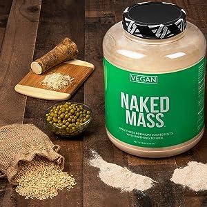 unflavored vegan weight gainer, vegan mass gainer, gluten free weight gainer