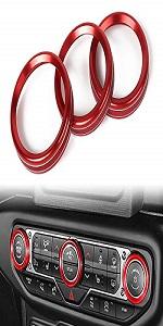 Air Conditioner Switch Knob Ring for 2018-2021 Jeep Wrangler JL JLU Gladiator JT