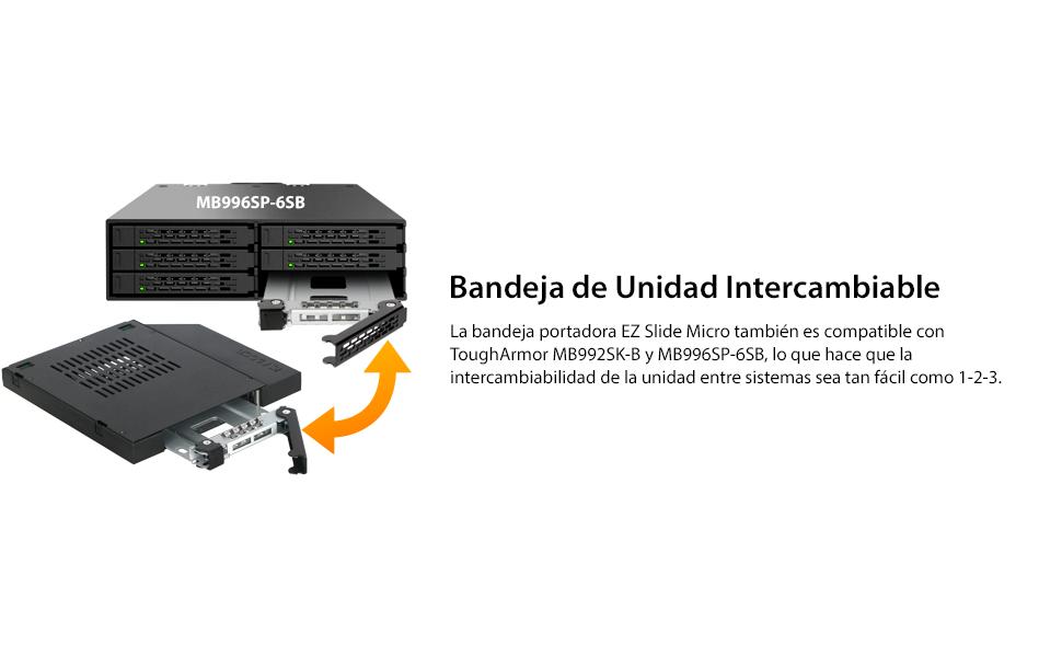 Icy Dock We de Ra 6,3 cm SATAI de III/SAS HDD & SSD Slim ODD 12,7 ...