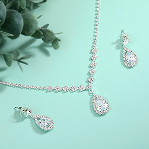 bride necklace for women girls jewelry sets for wedding  jewelry bridal sets for women prom jewelry
