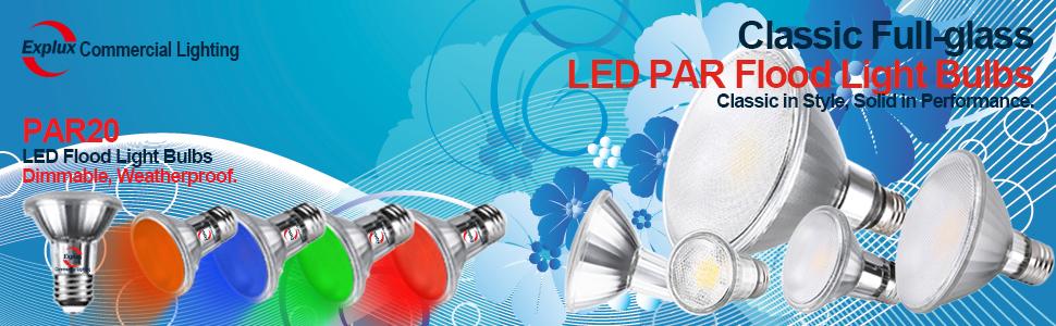 Red PAr20 led flood light bulbs