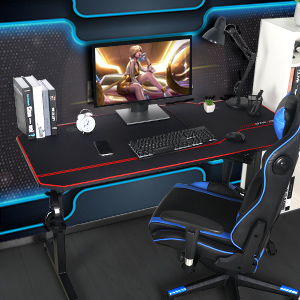 gaming desk with mousepad