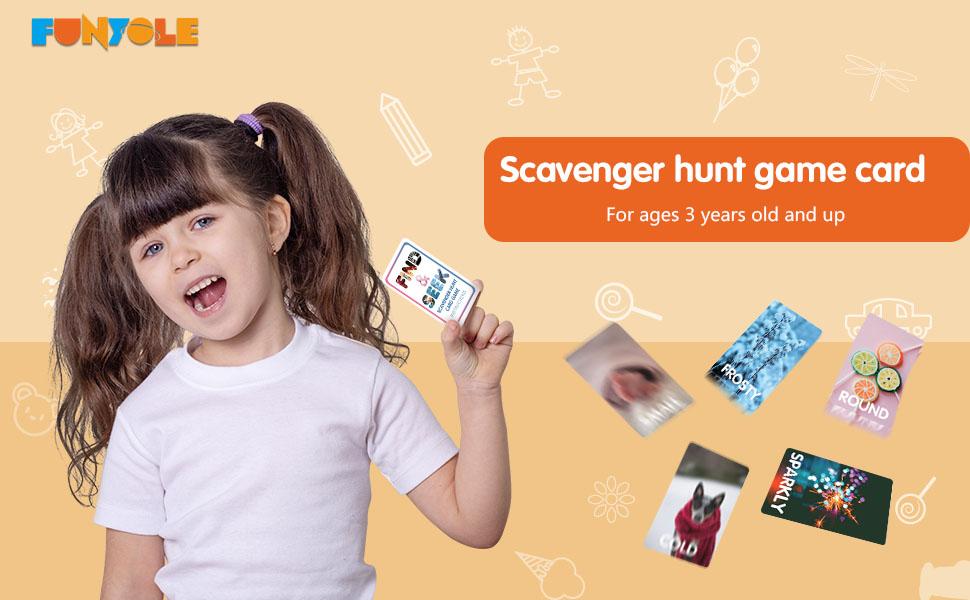 scavenger hunt game card