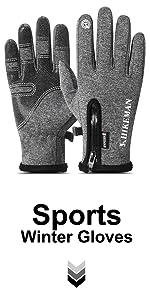 Touchscreen Winter Gloves Gery