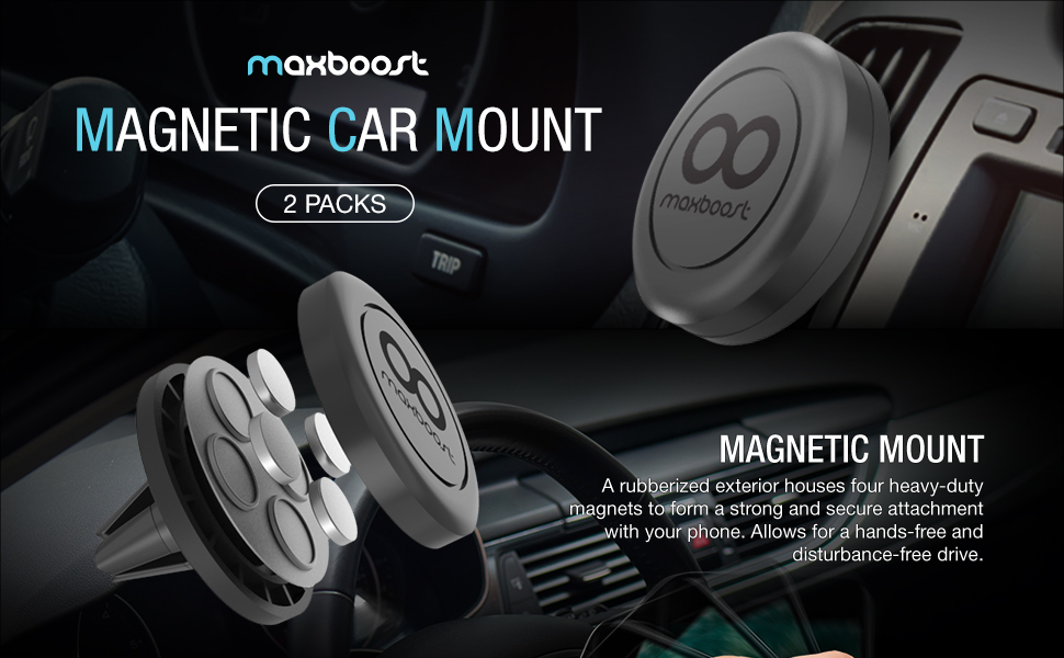 Maxboost Magnetic Car Mount 2 Pack