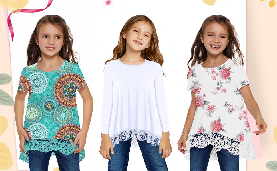 girls tunic tops