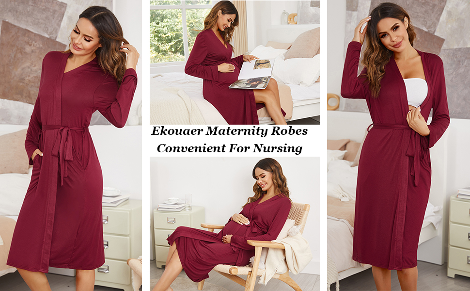 Ekouaer maternity robes