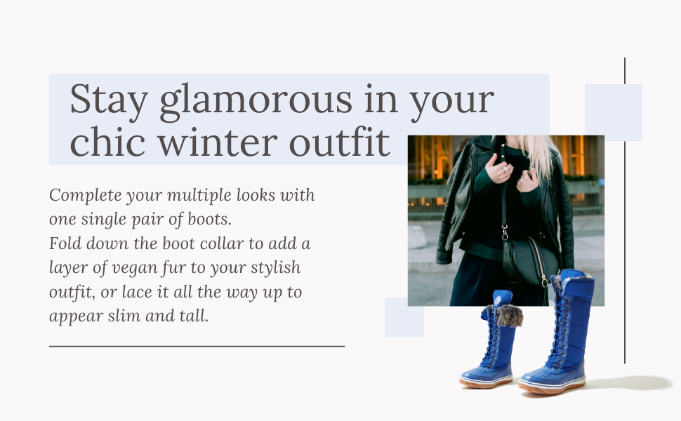 stay glamorous in your chic winter outfit