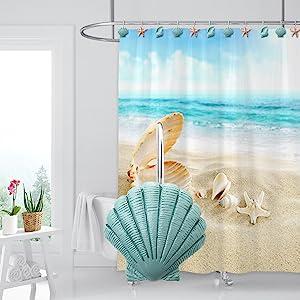 seashell bathroom decor