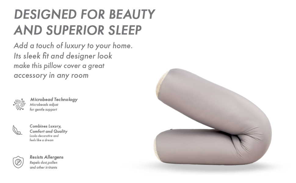 Straight Body Pillow Premium Microbead Side Sleeping Maternity Pregnant Women Supportive Breathable