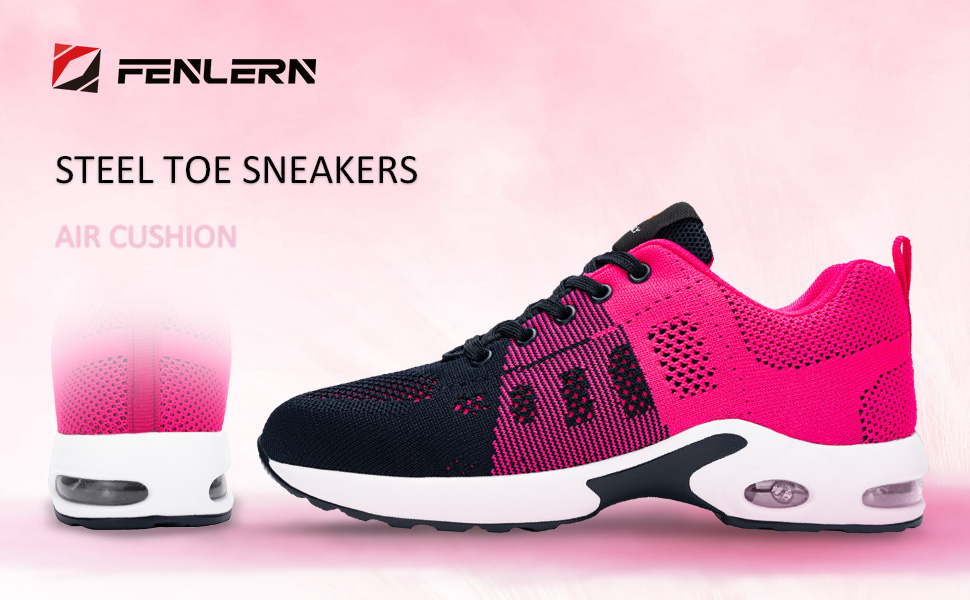 steel toe sneakers for womens safety shoes lightweight slip resistant work shoes steel toed shoe