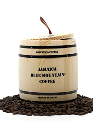 Jamaican Blue Mountain Coffee Gift Box Barrel, 100% Pure and Certified