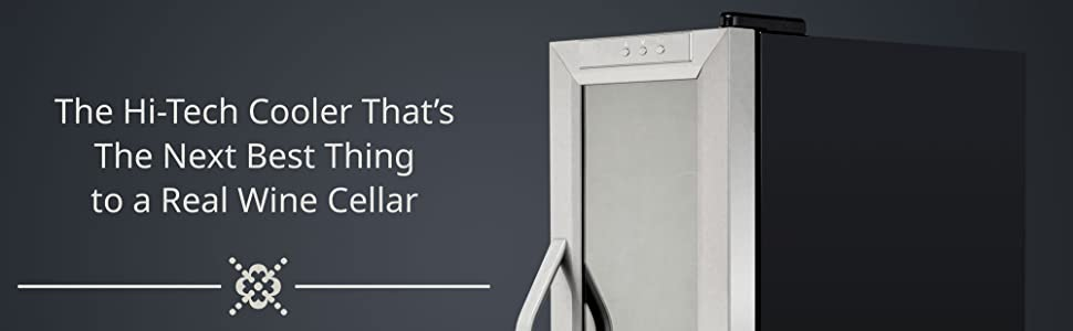 modern sleek design wine cooler