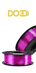 silk purple pla filament