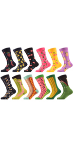 fruit red green funny casual novlety socks cotton colorful dress socks fancy office cool
