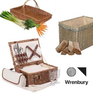 wrenbury, wrenbury willow, willow basket, picnic hamper, willow picnic hamper, willow storage basket