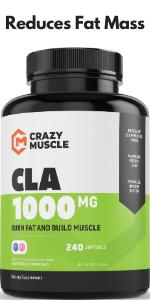 CLA Safflower Oil Pills: 120 High Potency Non-GMO Softgels - 1000 mg