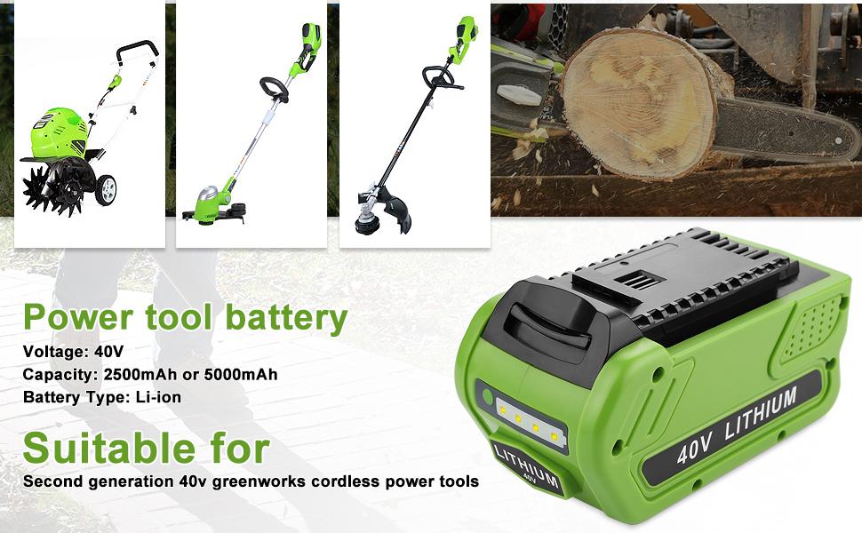 greenworks battery 40v lithium