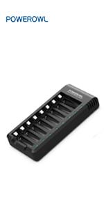 8 Bay AA AAA-batterijlader