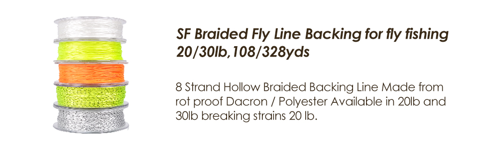100M//109yds Fly Fishing Backing Line 8 Strands 30LB Dacron Braided Line
