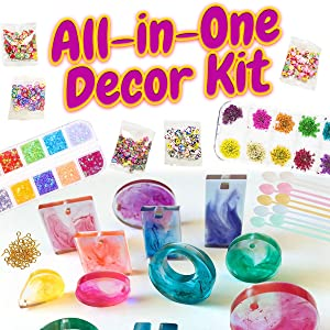 Resin Accessories Decoration Kit Glitter