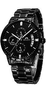 orologio uomo nero acciaio