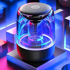 6 LED light modes  [2 Pack] Bluetooth Portable Speaker, True Wireless Stereo Speakers, Crystal Clear Stereo Sound, Rich Bass, 100 Ft Wireless Range, Microphone, LED Light Show, TF Card, Aux in, Mini Small Pocket Size¡ cc62f633 05e9 4c7c 9f5f 8c480eb29da9