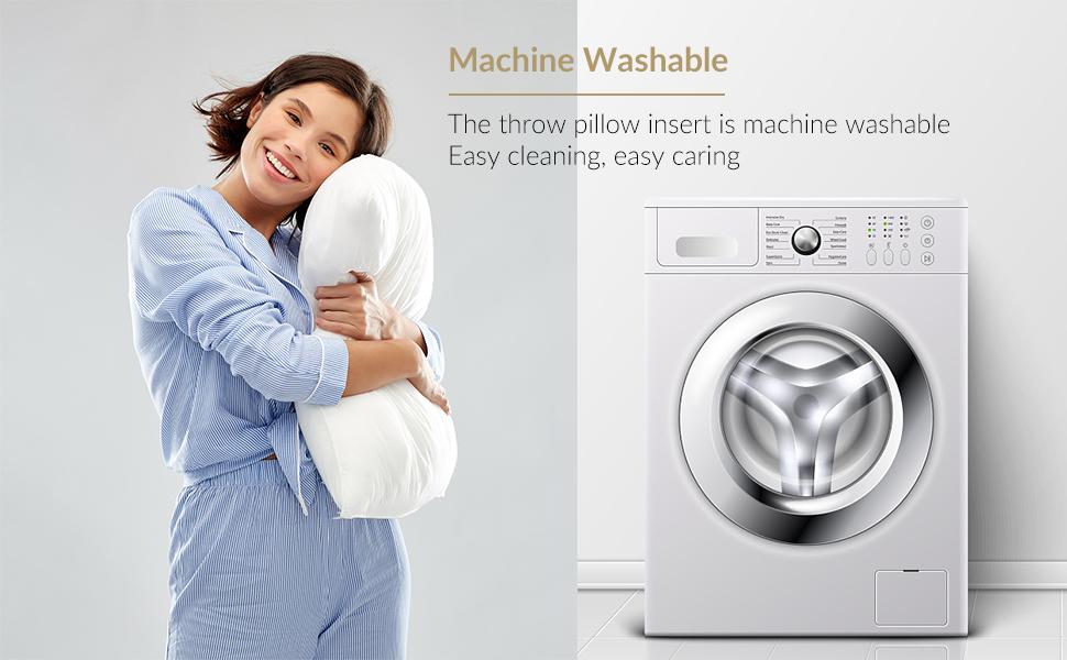 machine washable throw pillow insert almohadas