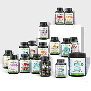 bottles forest leaf forestleaf supplements nature