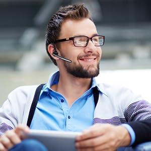 Bluetooth headset für unterwegs mit Mikrofon happyset