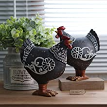 Resin rooster decor