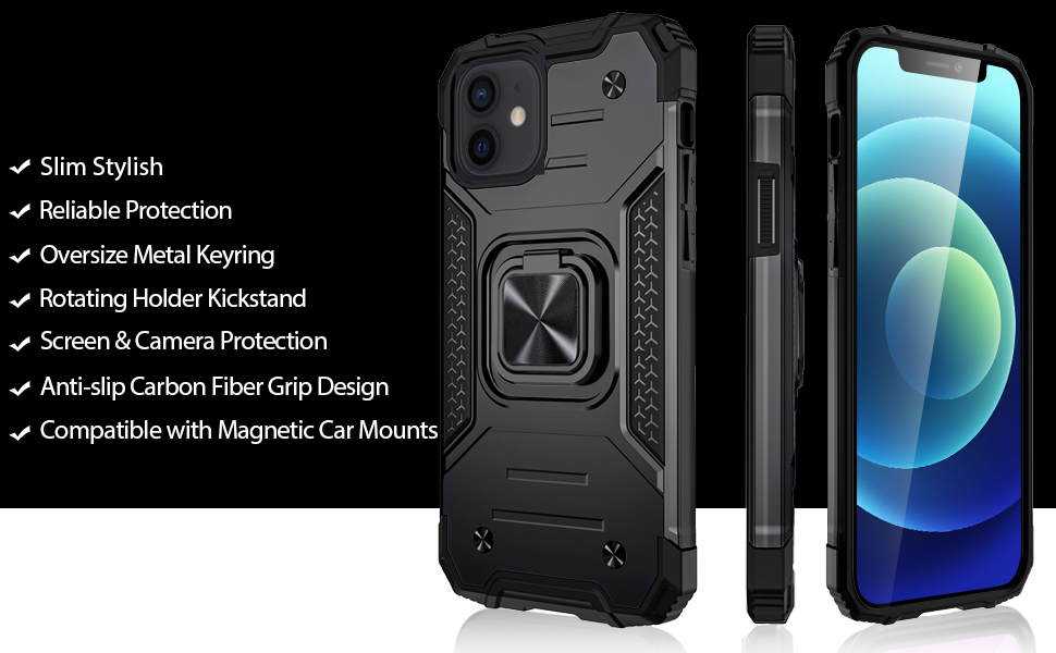 Dual Layer Shockproof TPU and Polycarbonate Protective Bumper Case Cover with Kickstand
