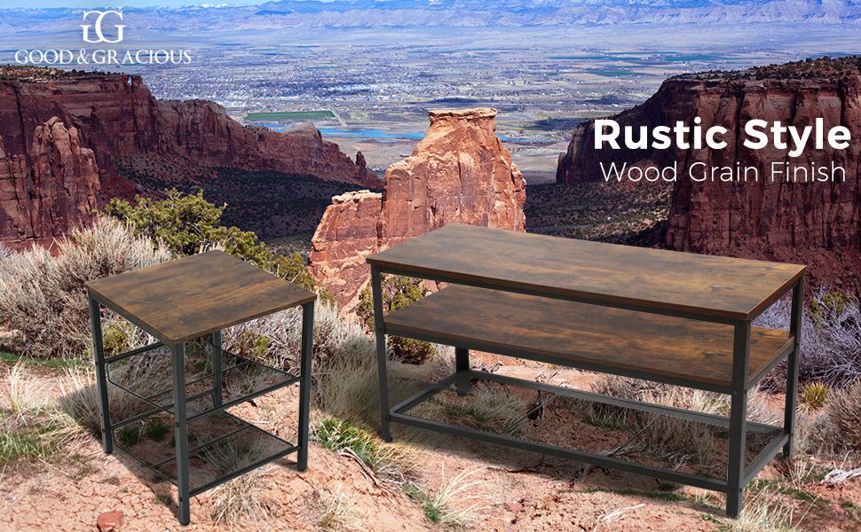 Rustic, wood grain