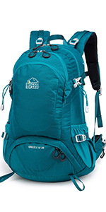 Aveler 36L Unisex Lightweight Nylon High Performance Backpack with Integrated Rain Cover