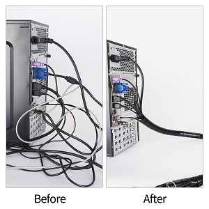 tv pc computer wire management
