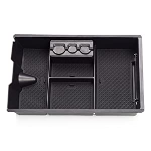 LFOTPP RAM 1500 2009-2018 Armrest Center Console Organizer Tray Accessories with Coin and Sunglass Holder,Secondary Storage Box