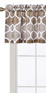 geometric kitchen curtain