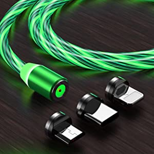 flowing led magnetic charging cable