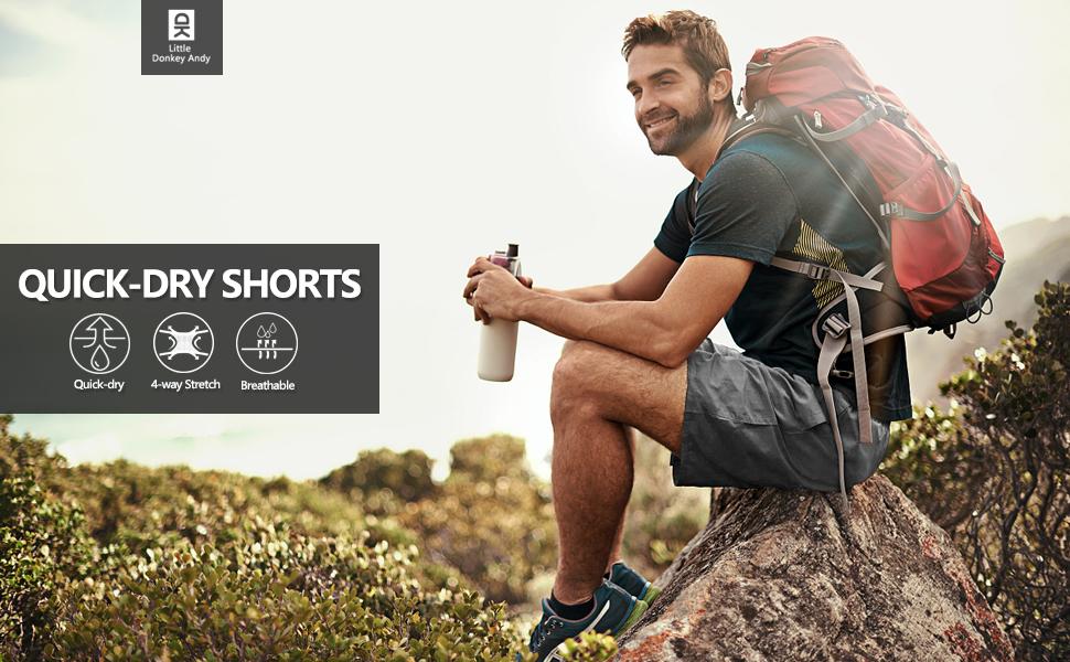 mens quick dry hiking shorts