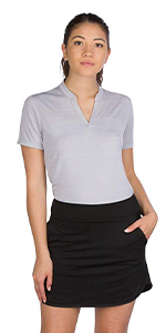 Women's Sleeveless Collarless Golf Polo Shirt Dry Fit, Breathable, Compression Golf Tops