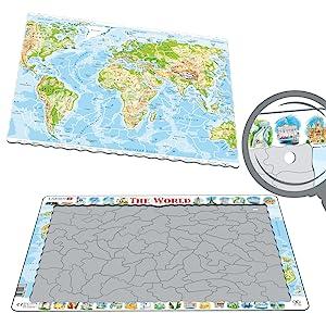 des puzzles à plateau et à cadre fabriqués à partir de carton recyclé à 100