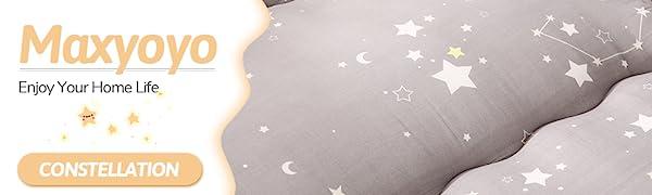 Grey Constellation Japanese Floor Futon Mattress Floor Bed for Kids