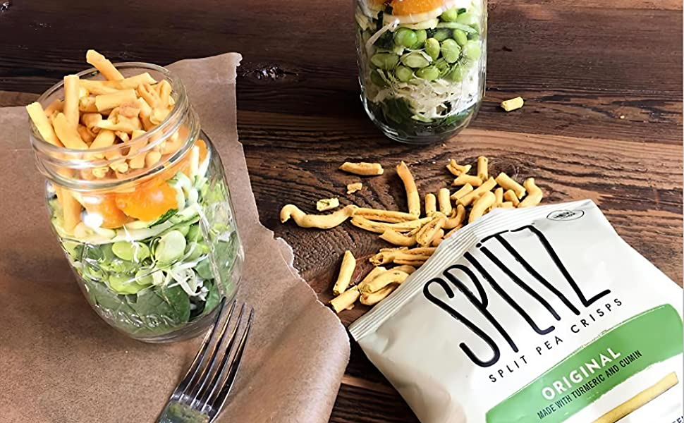 Healthy Snack Vegetable Chip Pea Crisps Gluten Free Non-GMO Vegan Snack Plant Based All Natural