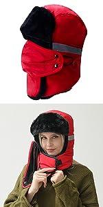 women ushanka hat