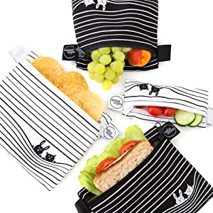 reusable snack sandwich bags food bag dishwasher safe kids small anlomi 4 cloth bumkins large four