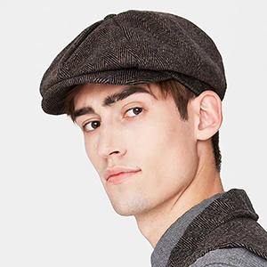Black Herringbone Hat