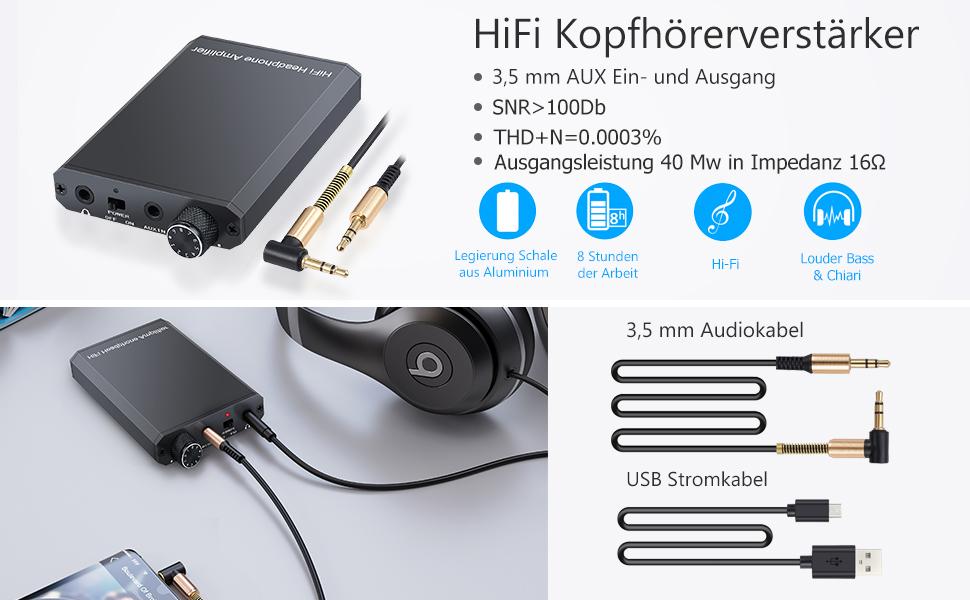 Esynic Hifi Kopfhörer Verstärker Tragbar Elektronik